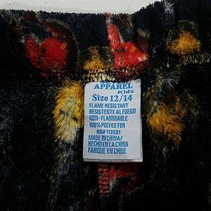 seven apparel Pajamas - Boys Guitar Fuzzy Pajama PJ pants 12/14